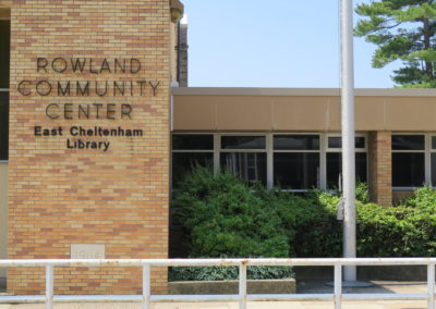 Front view of Rowland Community Center.