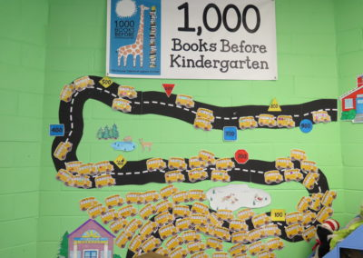 1,000 Books Before Kindergarten wall.
